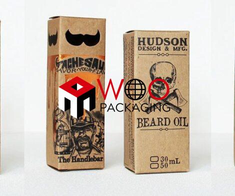Printed Beard Oil Boxes