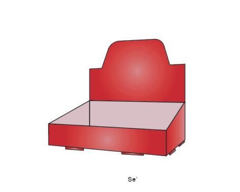 Self-Locked Counter Display Tray