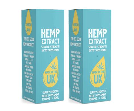 Kraft Hemp Oil Boxes
